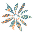 Dream catcher leaf design vector image vector image