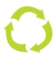 ecologycal flat green recycle eco sign isolated on vector image vector image