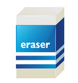 Eraser with blue label vector image vector image