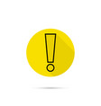 exclamation mark icon vector image vector image