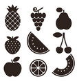 Fruit icons isolated on white background