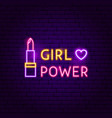 girl power neon sign vector image vector image