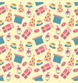 happy birthday pattern cute in vector image vector image