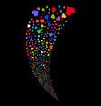 heart random stream vector image