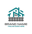 home logo design and hedgerows vector image vector image