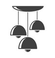 icon of the three-level chandelier on vector image vector image