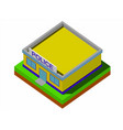 isometric police department building vector image vector image