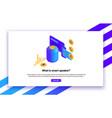 isometric smart speaker vector image vector image