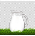 jug with grass border transparent background vector image