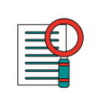 magnifying glass search on document icon image vector image vector image