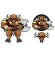 minotaur mythology mascot vector image