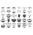 moustaches and beards vintage hipster moustache vector image