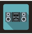 Music center icon flat style vector image vector image