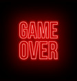 neon game over green sign on dark background vector image