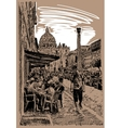 original sketch hand drawing of Rome Italy famous vector image vector image