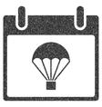 Parachute Calendar Day Grainy Texture Icon vector image vector image