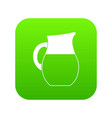 pitcher of milk icon digital green vector image