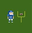 pixel art - american football vector image