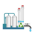protecting the environment in the production vector image