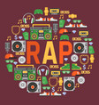 rap music pattern dj playing disco on vector image vector image