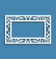 rectangle frame with lace border ornament vector image vector image