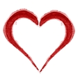 Red Heart Brushed vector image vector image