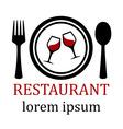 restaurant menu symbol vector image