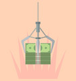 robotic claw clutching a money vector image vector image