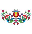 scandinavian traditional folk art design vector image