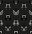 sea and sun pattern seamless vector image vector image