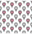 seamless air balloon pattern vector image vector image