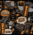 seamless background for fitness theme in graffiti vector image vector image