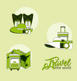 set of travel elements vector image vector image