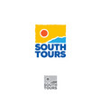 south tours logo tourism icon vector image