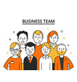 stylized of business team concept vector image vector image