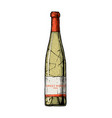 sweet white wine vector image vector image