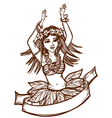 Tahiti girl vector image vector image