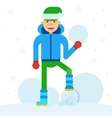 teen sculpts snowman vector image vector image