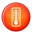 Thermometer indicates high temperature icon vector image vector image