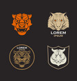 tiger logo design icon set vector image