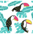 toucan floral pattern vector image vector image