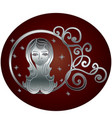 virgo zodiac sign in circle frame vector image vector image