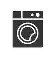 washing machine glyph single isolated icon vector image
