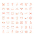 wealth icons vector image vector image