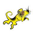 cute yellow dog 2018 cartoon character vector image