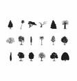 black tree silhouettes vector image