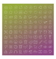 100 clear line icons set vector image vector image