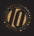 10th birthday logo vector image