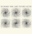 6 grunge twirl lines textures vector image vector image
