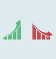 arrow graph icon up and down simple color symbol
